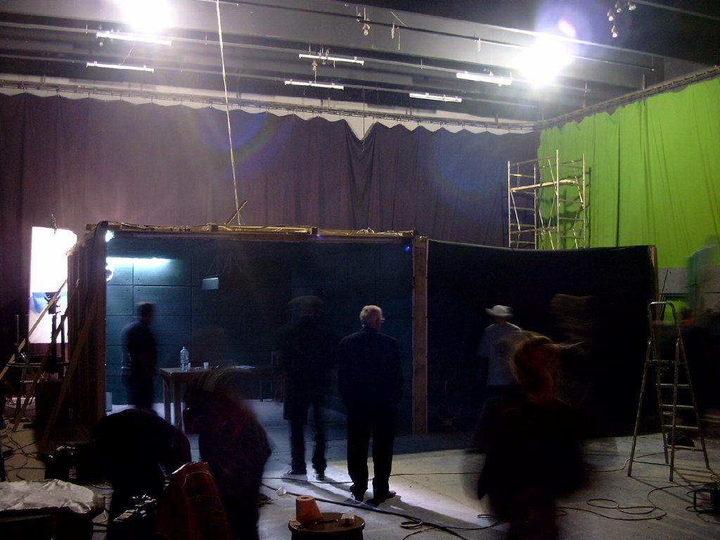 Decorul construit in platoul Multimedia Film