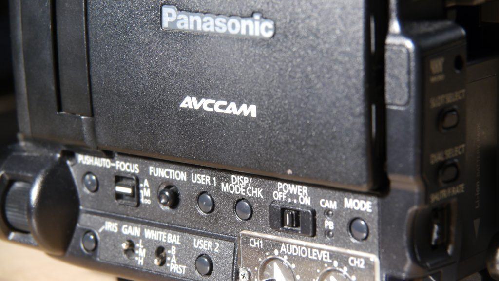 The side control panel of the Panasonic AG AF 100