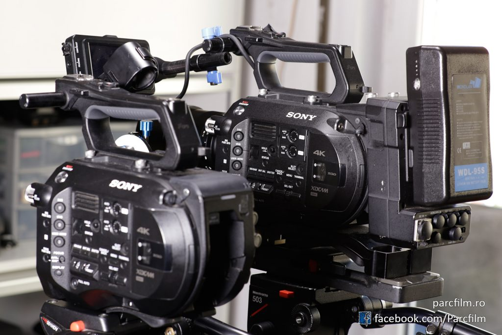 Sony FS7 with / without the extension unit and V-mount battery