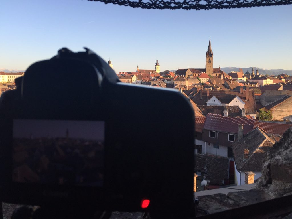 Sibiu, a view over the old town.